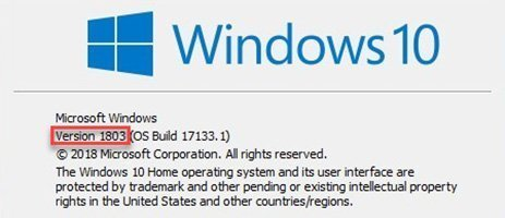 Windows 10 1803 update
