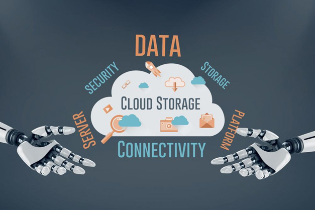 An illustration showing all services cloud provides