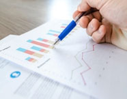 A business owners analyzing the growth