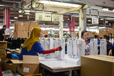 inside a factory for a manufacturing company