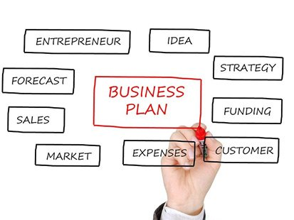 A person mapping out his business plan